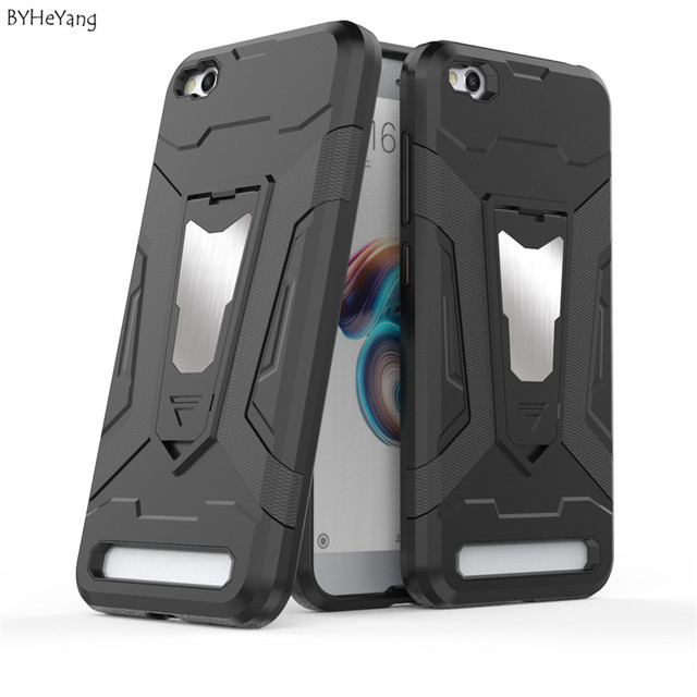 new product ed80b b9940 US $3.74 25% OFF|BYHeYang ARMOR COVER for Xiaomi Redmi 5A TPU+PC Slim Cases  Full Cover Smartphone Iron Man Car Case with Holder for Redmi 5a 5 A -in ...