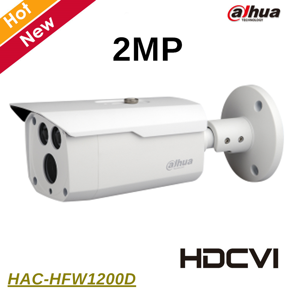 Dahua HAC-HFW1200D 2MP HDCVI IR Bullet Camera IR length 80m 1080P Outdoor IP67 DC12V Original export version without logo dahua hdcvi 1080p bullet camera 1 2 72megapixel cmos 1080p ir 80m ip67 hac hfw1200d security camera dh hac hfw1200d camera