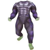 Avengers Endgame Hulk Cosplay Costume Superhero Robert Bruce Banner Zentai Bodysuit Suit Jumpsuits