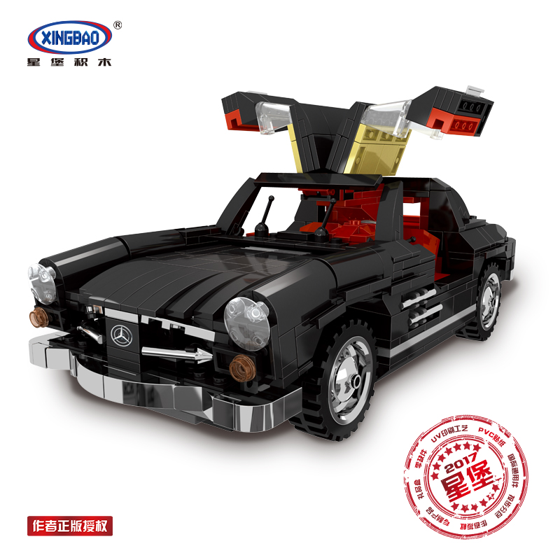 XingBao 03010 825pcs in Blocks Creative MOC Technic Series The Photpong Car Set Education Building Blocks