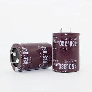 Image 1 - 10 ~ 20 adet Sadece iyi kalite 450 V 330 UF Radyal DIP Alüminyum Elektrolitik Kapasitörler boyutu 30*40 MM 330 uF 450V330UF Tolerans 20%