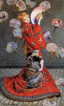 High quality Oil painting Canvas Reproductions Japan's (Camille Monet in Japanese Costume) By Claude Monet hand painted