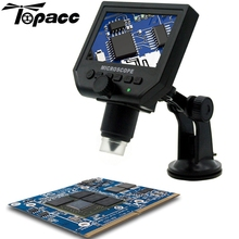 1-600X 3.6MP USB Digital Mikroskop Tragbare G600 Kontinuierliche Lupe mit 4,3 zoll HD Oled-display für pcb mainboard reparatur