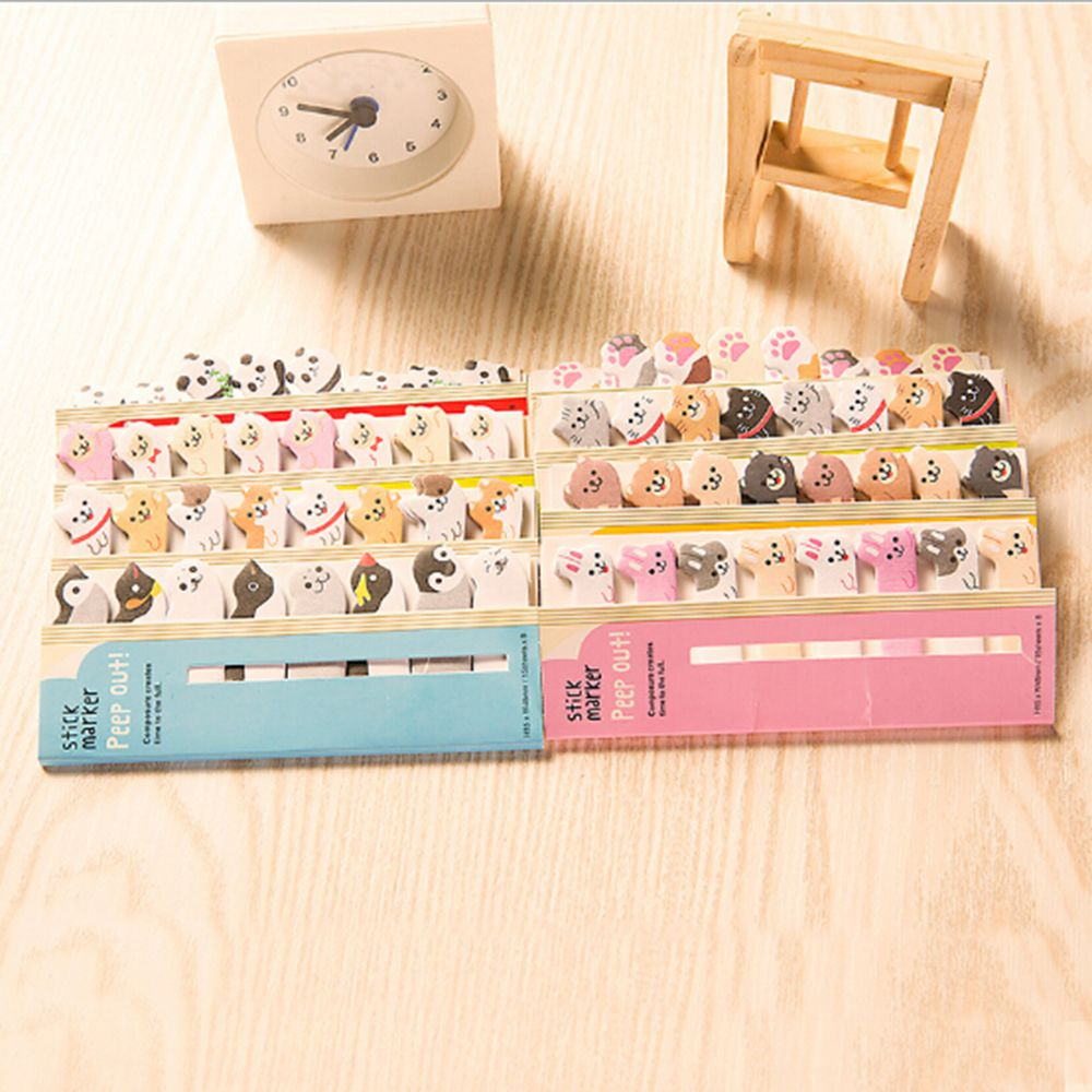 1PCS Cute Kawaii Cartoon Animals Cat Panda Dog Memo Pad Sticky Notes Memo Notebook Stationery Note Paper Stickers School Suppl