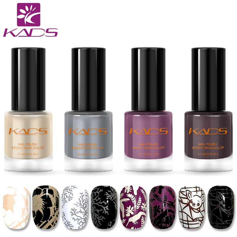 KADS New Arrival 4PCS Nail Polish SET Sweet Color Nail Polish For Two In One Stamping