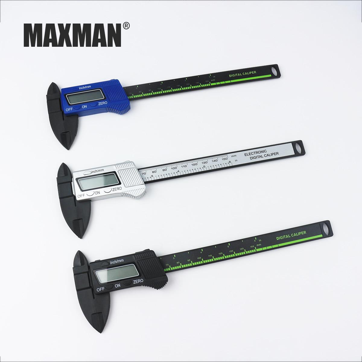MAXMAN 0-150mm Measuring Tool Stainless Steel Caliper Digital Vernier Caliper Gauge Micrometer Measuring Instrument