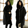 2016 Cotton Thick Fleece Long Hoodies Sweatshirt Fake-two Collar Longwomen's Zipper Hooded Hoody Winter Women