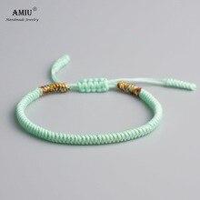 AMIU Tibetan Buddhist Lucky Charm Tibetan Bracelets & Bangles For Women Men Handmade