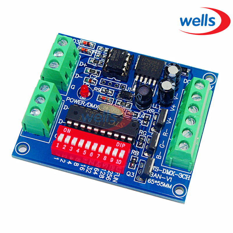 DMX512 3CH 4CH 6CH 8CH 12CH 18CH 24CH 27CH, LED-Controller Konstante spannung Gemeinsame anode Decoder Dimmer Controller, 5 ~ 24 V