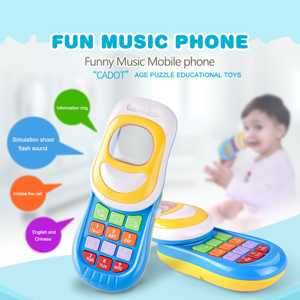 Electronic Toy Phone For Kids Baby Music Mobile Elephone Educational Learning Toys Music Machine Toys For Children