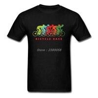 Men T Shirt BICYCLE RACE Custom Made Cycle Tee Shirts Short Sleeve Man Clothing Tops