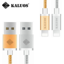 KALUOS 20CM 1M 1.5M 2M USB Data Sync Charging Cable For iPhone 5 5S 6 6S 7 Plus iPad mini 2 Air 2 iOS9 iOS10 Phone Charger Wire
