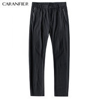 CARANFIER 2017 New Mens Casual Business Pant Stretch Elastic Fabric Slim Straight Pant Black Blue Khaki