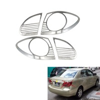 4pcs ABS Chrome Car Rear Tail Lamp Light Cover for Ninth generation Toyota Corolla altis 2003