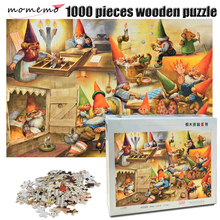 MOMEMO Dwarfs Family 1000 Pieces Wooden Puzzle Adult Jigsaw Decompression Game Toys Childrens Educational Gifts