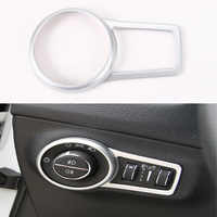 For Jeep Compass 17+ Interior Headlight Lamp Button Switch Decorative Trim Frame Ring Sticker Cover ABS Car Styling