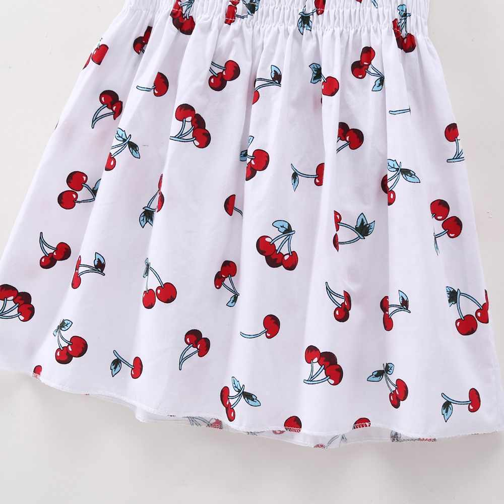 7519be9b15a5f 2018 Summer New Baby Clothes Bebe Baby Ruched Party Dresses Girl Cherry  Fruit Printed Cool Kid Costume Causal Loose Cute Dress