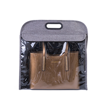 050 Fashion Imitation Oxford linen handbag transparent bag dust proof breathable storage