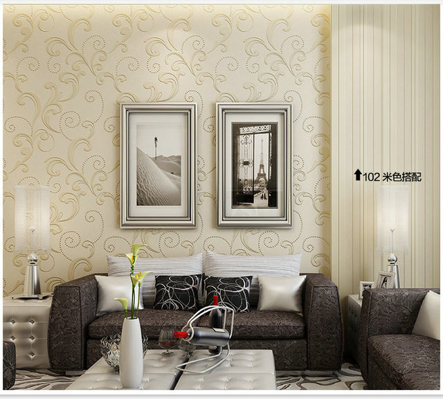 Home Wallpaper Pattern promotion 3d european the leaves pattern decor mural home