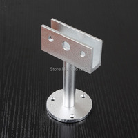 Free Shipping Glass Clamps Glass Support Bracket Feet Glass Holder Glass Partition Aluminum Alloy Support Leg