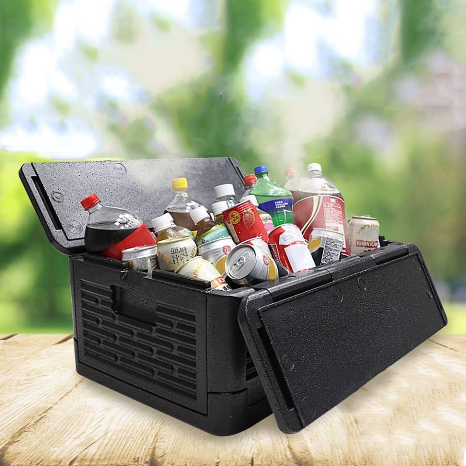 Nouveau refroidisseur pliable plis Stow boîte d'isolation extérieure Cool Box isolation étanche boîte de rangement sac de pique-nique
