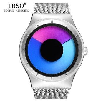 цена на IBSO Brand Fashion Creative Mens Wrist Watches 2019 Stainless Steel Strap Quartz Sport Watch Men Relogio Masculino Male Clock