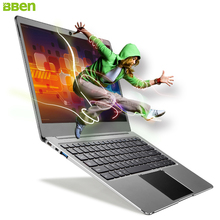 "BBEN 14.1"" Ultrathin Laptop Windows 10 Intel Celeron N3450 Quad Core 4GB RAM 64G eMMC M.2 SSD HDMI Notebook Laptop Iron Gray"