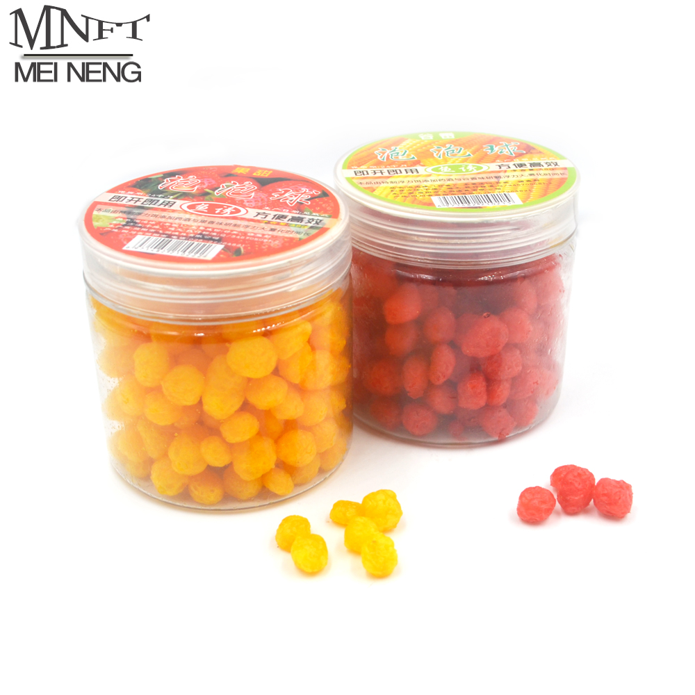 MNFT 1 Bottle Pop Floating Carp Fishing Cereal Fruit Flavor Bait Balls Feeder Artificial Carp Boilies Baits Bola Isca De Pesca