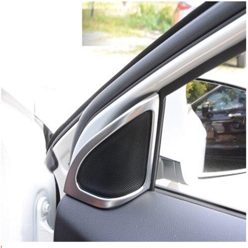 2 pcs car styling voiture porte haut-parleur lumineux cadre décoratif autocollants converti audio haut-parleur pour Mercedes GLA benz GLA accessoires
