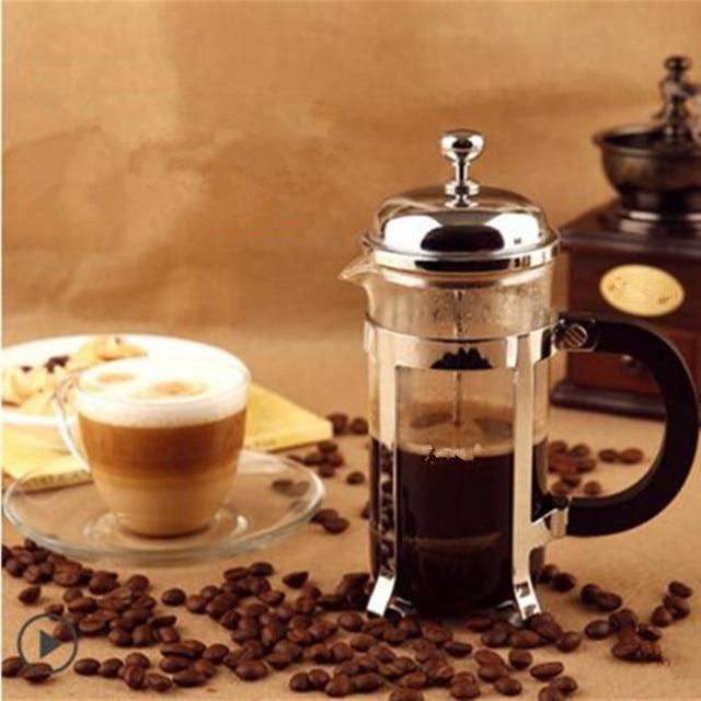 מדהים 600 ml עלה יצרנית עיתונות צרפתית בוכנת קפה קנקן קפה פילטר נירוסטה KK-41