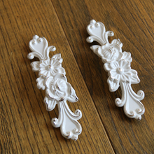 5Pcs  96mm Ivory White Cabinet Handles Pulls Dresser Drawer Pull Handles Furniture Wardrobe pulls Hardware