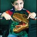 Прохладный 12 дюймов Маленькие Дети Динозавров Рюкзак Мальчики Детский Сад Книга Сумка 3D Звериный Лик Дети Школы Bagpack Mochila Infantil