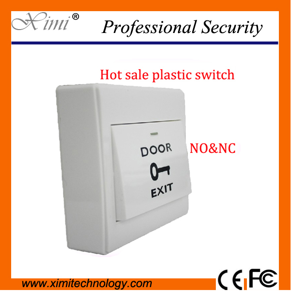 Hot Sale NO& NC Push Button Fireproof White PVC Plastic exit switch for access control hot sale cayler