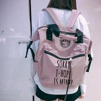 New Kpop BTS Bangtan Boys JIMIN SUGA The Same Student Girl Boy Handbag Backpack Clutch Bag