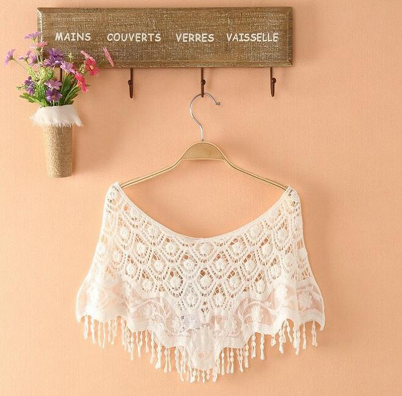 2pieces Hollow Out Diy Lace Collar Sewing Craft Cotton Lace Neckline