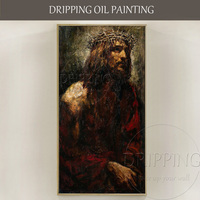 Top Artist Hand painted High Quality Chris Jesus Oil Painting Modern Abstract Wall Luxury Art Chris Jesus Portrait Oil Painting