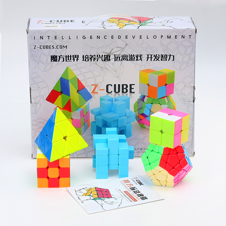 ZCUBE Bundle 3x3x3 2x2x2 Magic Speed Cube Professional Triangle Dodecahedron Mirror Cubo Magico 5pcs/Set Gift Educational Toys