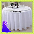 """90""""  hot selling round 100% polyester white  table cloth for wedding/event free shipping"""