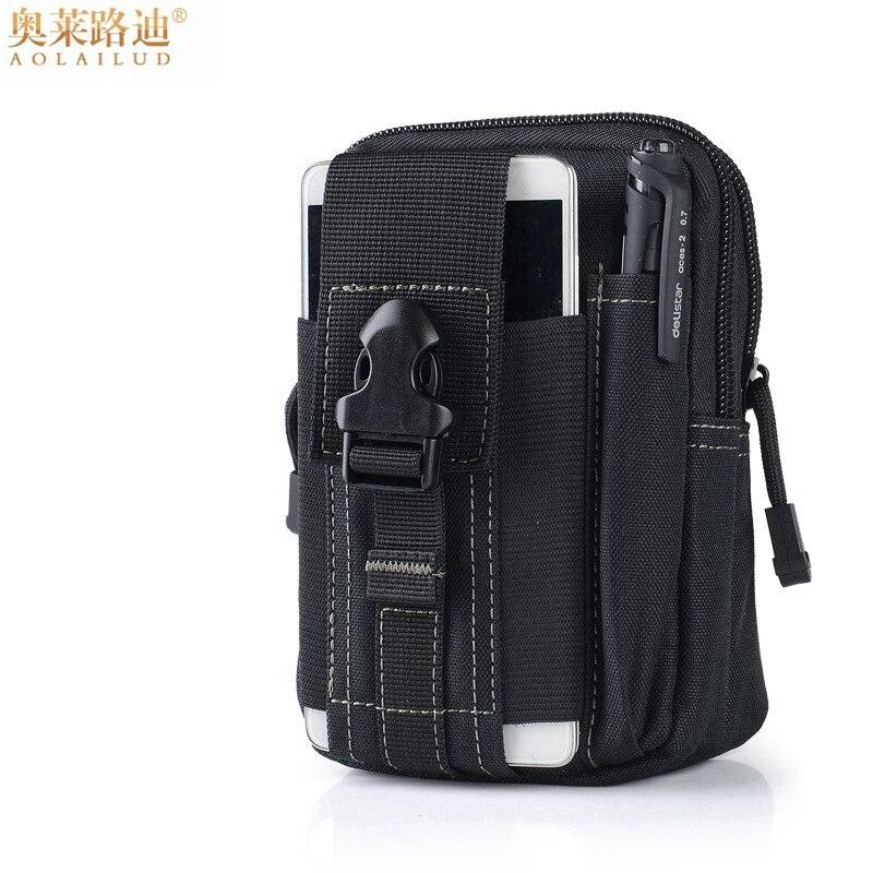 Multifunction Casual Waterproof Canvas Belt Bag Men Waist Pack Money Belt Purse Military Waist Bag Hip Bum Bag Small Waist Pouch