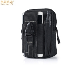 Multifunction casual waterproof canvas belt bag men waist pack money purse military hip bum small pouch