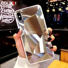 Diamentowa tekstura lustro etui na telefon dla iphone 7 8 6s 6 plus miękka TPU odporna na wstrząsy pokrywa dla iphone X Xs Max Xr 12 11 Pro Max sprawa tanie tanio bolimei CN (pochodzenie) Bumper Diamond Texture Mirror Phone Case Apple iphone ów iphone xs IPHONE 6S IPHONE XS MAX IPhone 7 Plus
