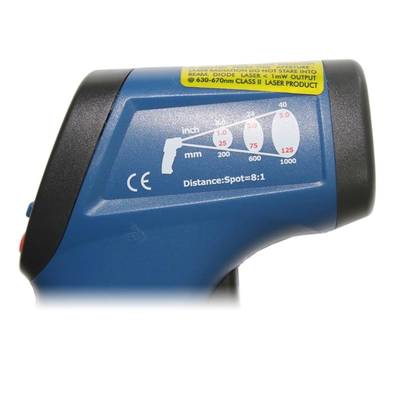 hordozható video infravörös hőmérő fegyver ipari pirométer - Mérőműszerek - Fénykép 4