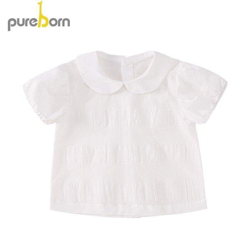 Pflichtbewusst Pureborn Kleinkind Baby Mädchen Bluse Baumwolle Süße Einfarbig Mädchen Prinzessin Kurzarm Sommer Kleidung Fotografie Verbraucher Zuerst