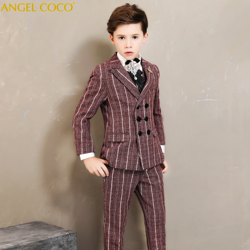 Kids Blazer Baby Boys Suit Jackets 2018 Spring Coat Pants Boy Suits Set Formal For Wedding Chlidren Clothing Costume Garcon 2019 akd car styling angel eye fog lamp for peugeot 2008 led drl daytime running light high low beam fog automobile accessories