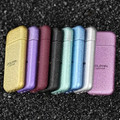 New Arrival Ultrathin frosted metal creative refillable gas lighters portable windproof Cigarette Cigar lighters