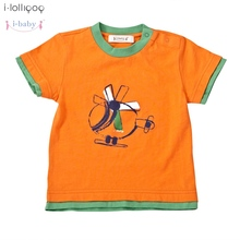 2017 Newborn Infant Baby Clothes T-shirt Boy Girl 100% Cotton Tees Short Sleeve Kids Cartoon T-Shirts Clothing Orange
