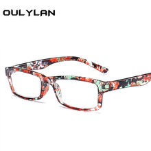 0c09b7a8522 Oulylan Printed Reading Glasses Women Toughness Unbreakable Eyeglasses  Transparent Lens Unisex Flower Frame +1.0 2.0