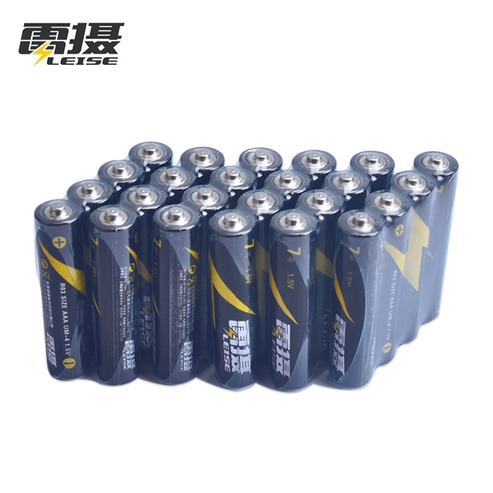 Leise 24pcs R03 1.5V Battery AAA Carbon Dry Batteries Safe Strong Explosion-proof AAA Battery UM4 Bateria No Mercury Baterias