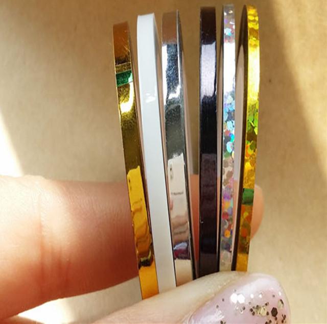 Ampliou Striping prego linha Tape Art Nail Sticker decorações de beleza para em Nail Stickers dicas DIY unhas