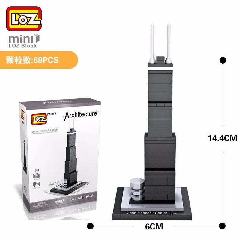 LOZ Mini Bloc John Hancock Center Monde Celebre Serie de Larchitecture Des Etats Mini Blocs de Construction En Plastique Jouet